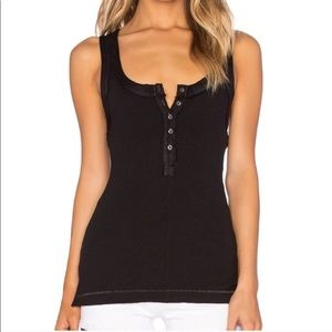 free people black button down time out tank